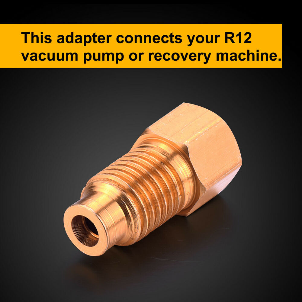 """Acme Truck Parts >> R12 to R134A ADAPTER, 1/4"""" FEMALE FLARE WITH O-RING X 1/2 ..."""