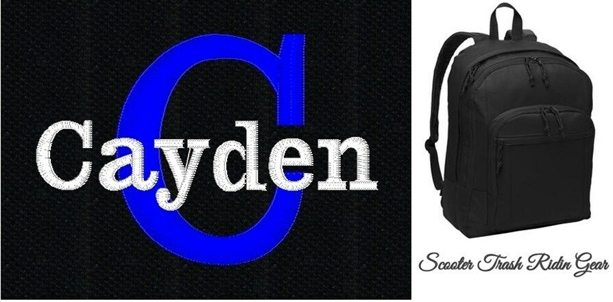 personalized boys black backpack book bag diaper baby tote monogrammed new