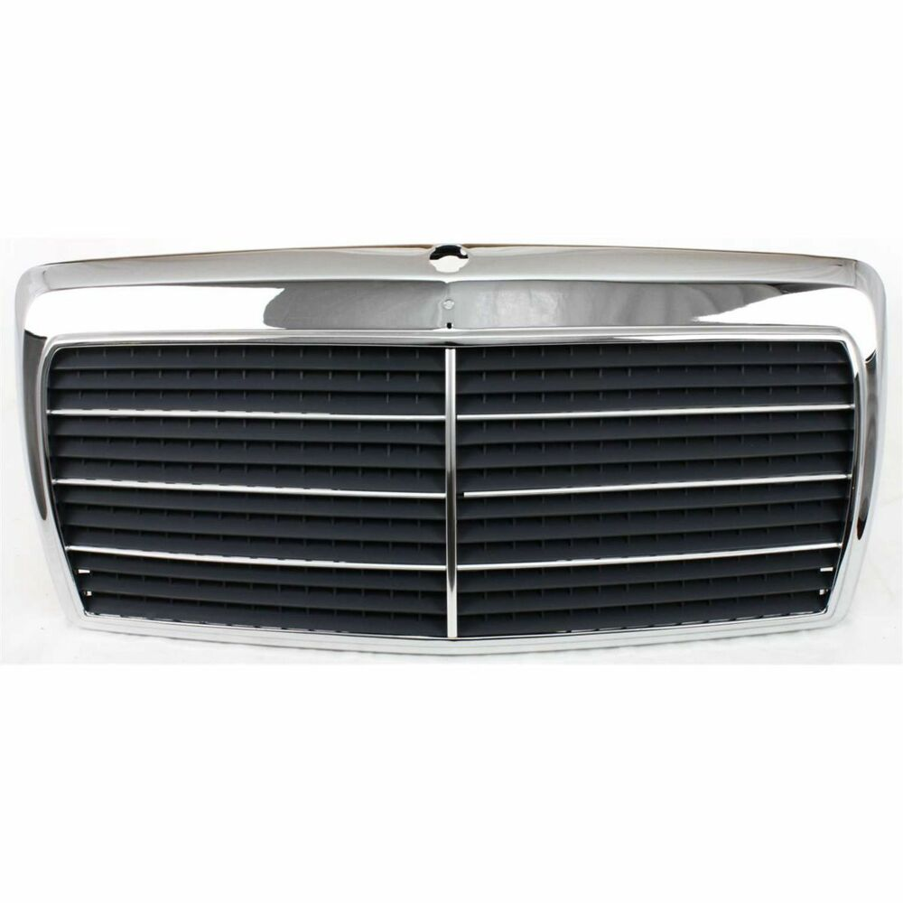 Grille for 86 93 mercedes benz 300e 90 93 300d chrome for Mercedes benz accessories ebay