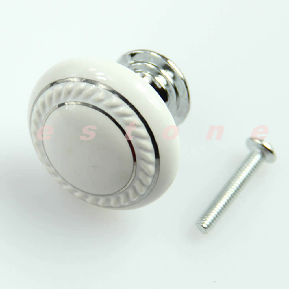 Crystal glass ceramic door knob drawer cabinet wardrobe for Small door knobs and handles