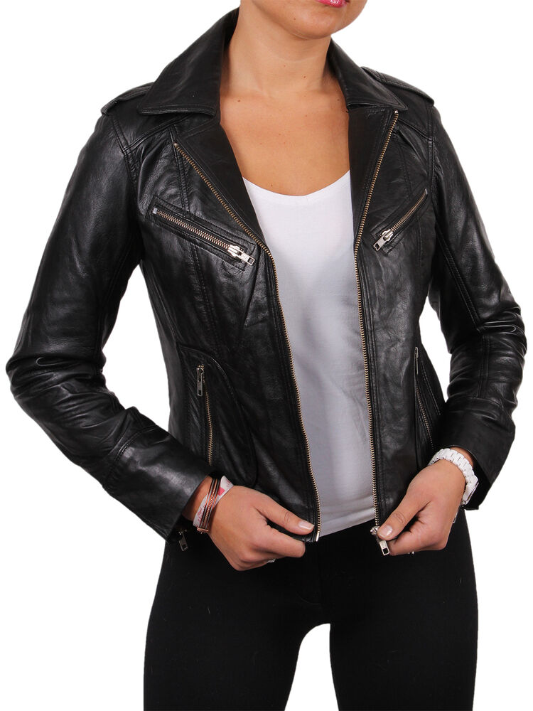 Womens leather jackets ebay