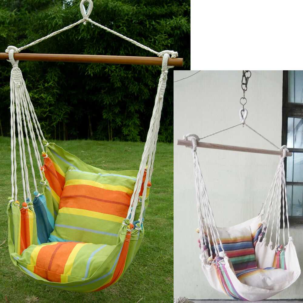 Hanging Seat Tree Hammock Swing Chair Camping Patio