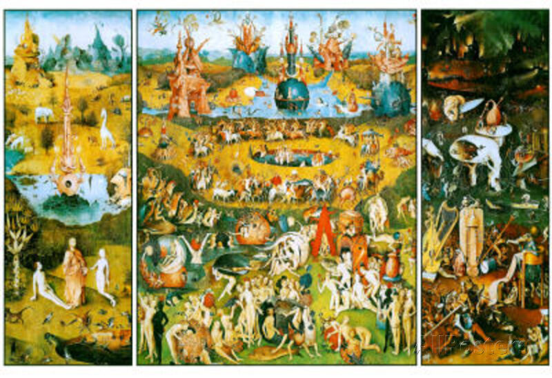 Hieronymus Bosch Garden Of Earthly Delights Art Poster Print Poster 19x13 Ebay