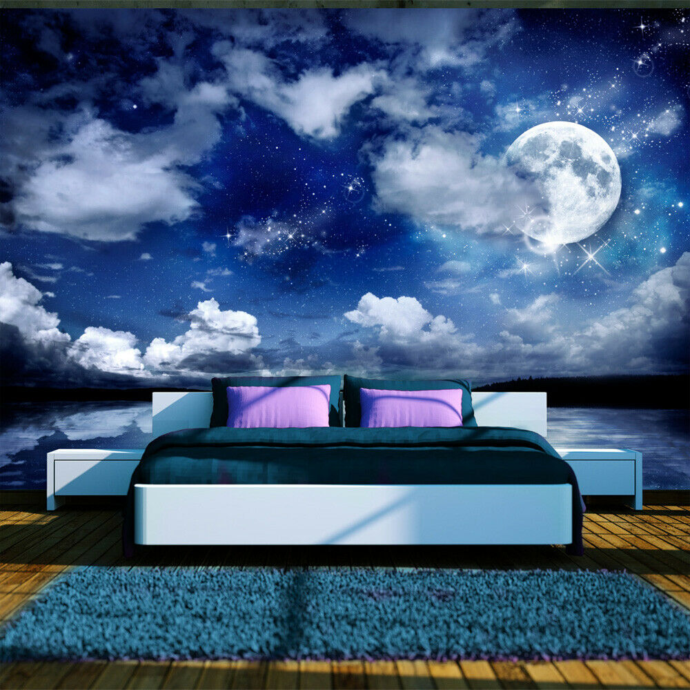 fototapete himmel vlies tapeten xxl wandbilder nacht mond sterne 10110903 27 ebay. Black Bedroom Furniture Sets. Home Design Ideas