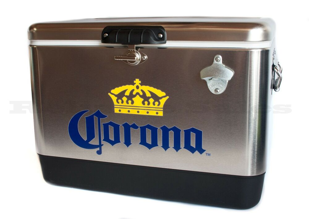 Corona Stainless Steel Beer Cooler 54 Quart With Opener