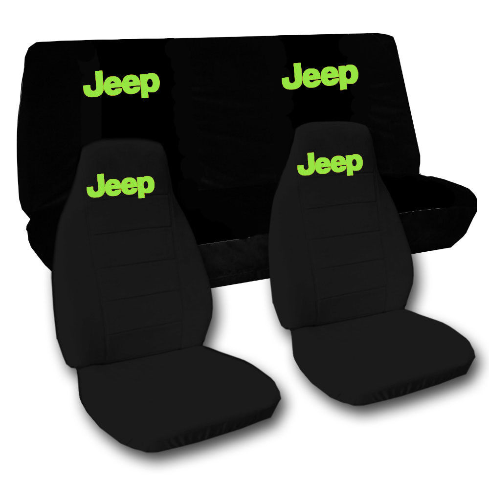 2002 2004 Front And 40 60 Rear Black Jeep Liberty Seat