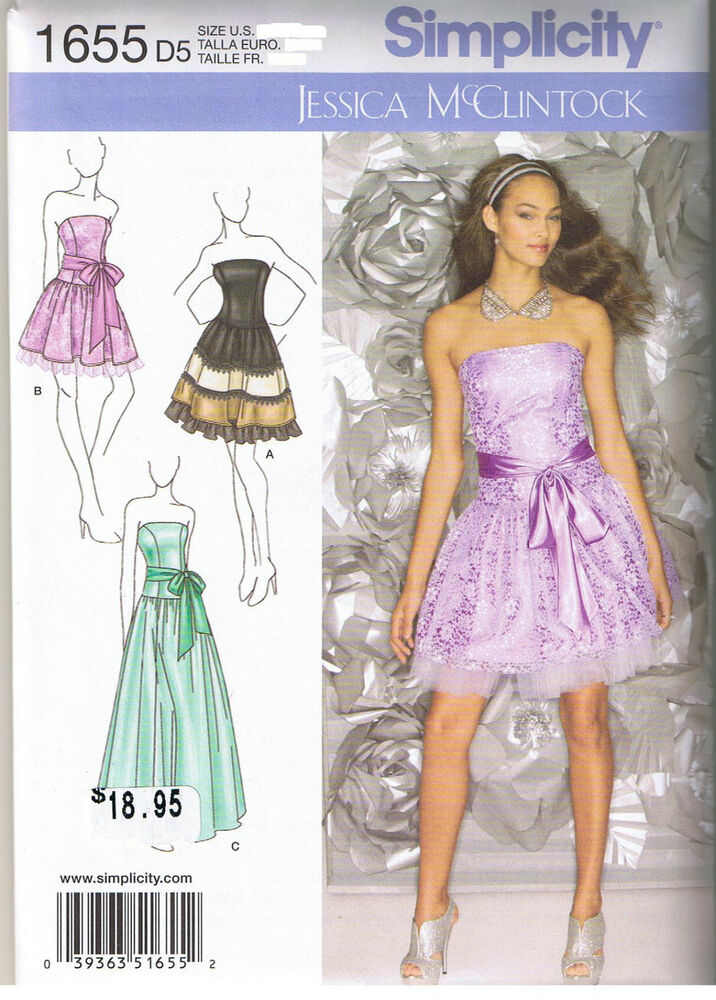 strapless flared skirt party prom dress gown sewing