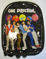 Childrens Kids One Direction 1D Bag Backpack Rucksack Black School PE Sport PVC