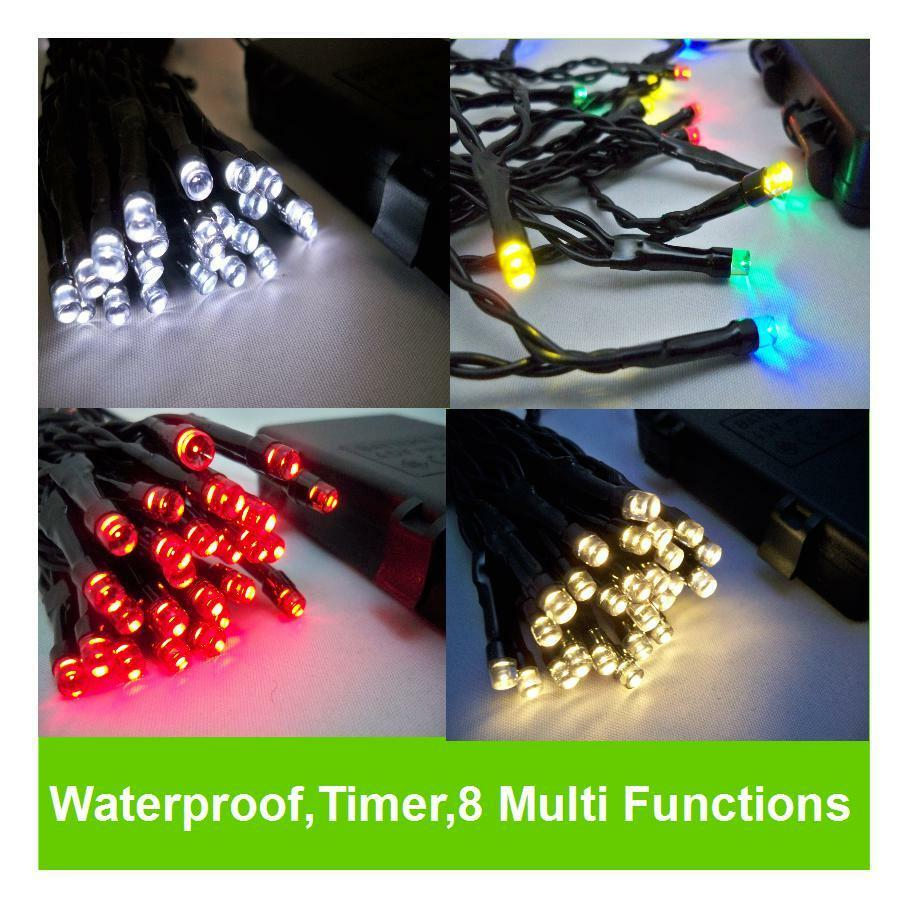 LED Outdoor WATERPROOF Battery Christmas Lights String