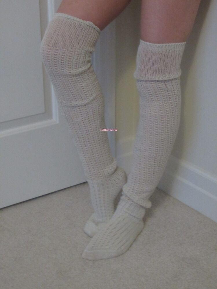 crochet cable knit rib over the knee socks womens otk long. Black Bedroom Furniture Sets. Home Design Ideas