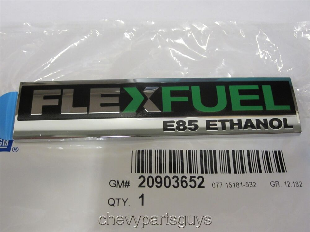 green flex fuel e85 ethanol emblem nameplate badge escalade silverado sierra gm ebay. Black Bedroom Furniture Sets. Home Design Ideas