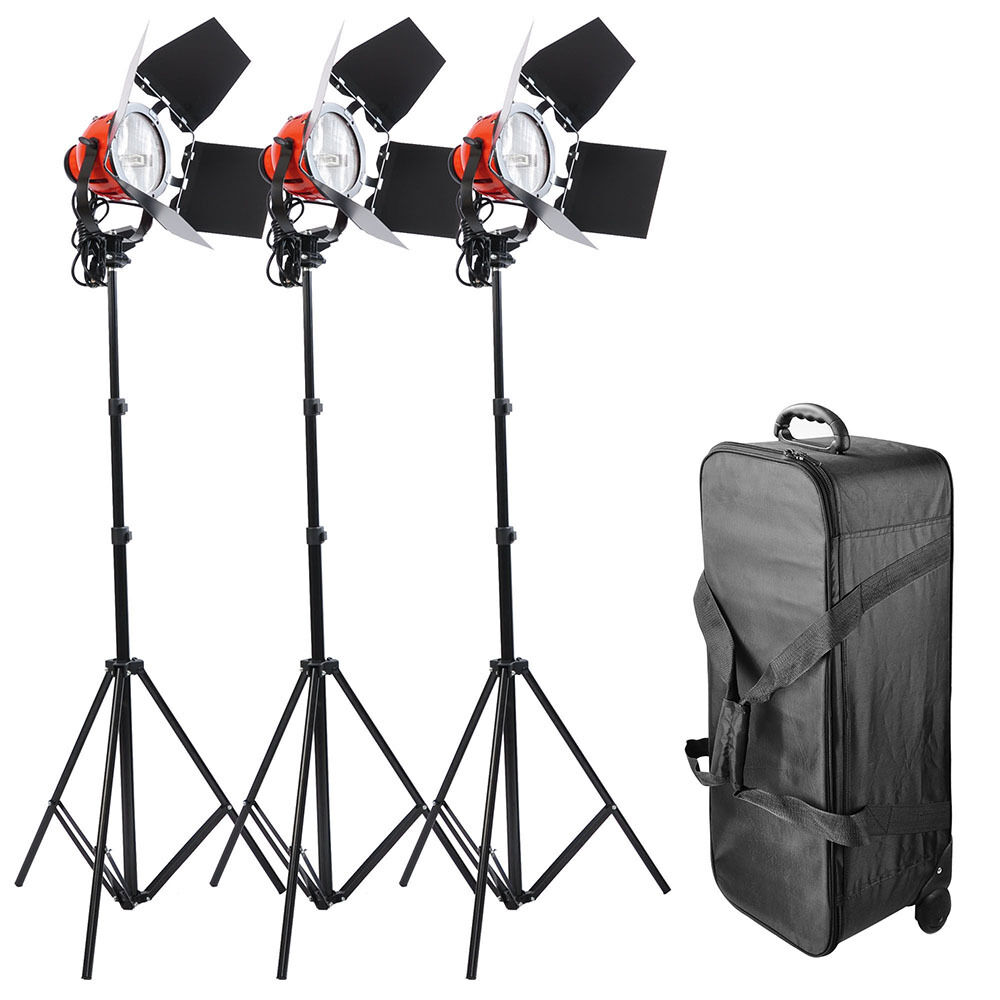 Optex Photo Studio Lighting Kit Review: 3x800W Dimmable Photo Studio Continuous RedHead Light