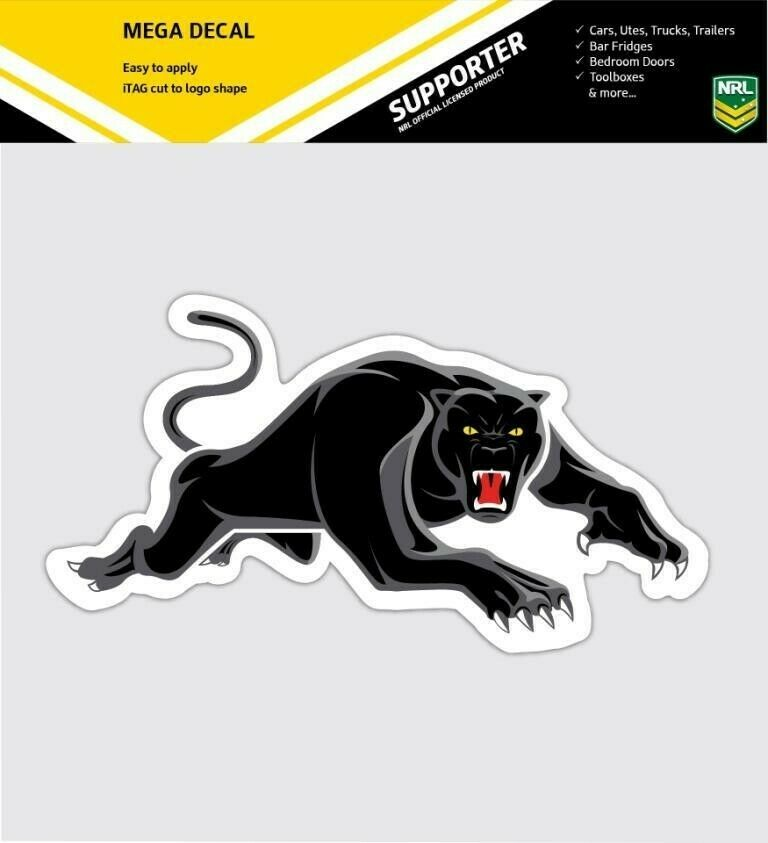 62839 penrith panthers 2014 new nrl club logo large car spot sticker decal ebay