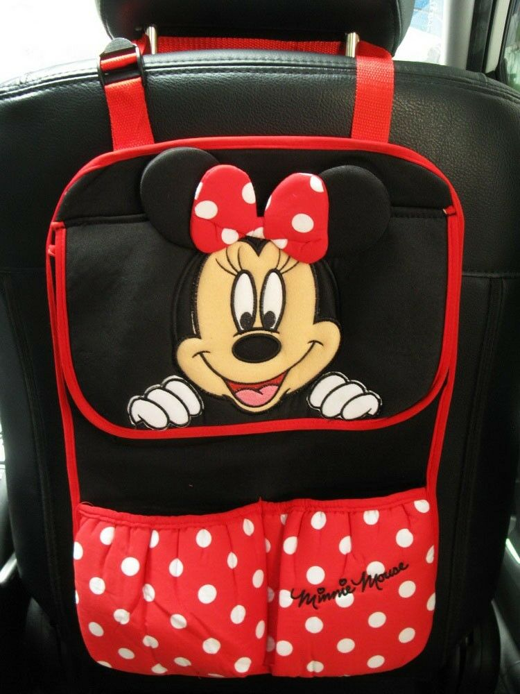 minnie mouse car accessory red hanging storage pocket organizer ebay. Black Bedroom Furniture Sets. Home Design Ideas
