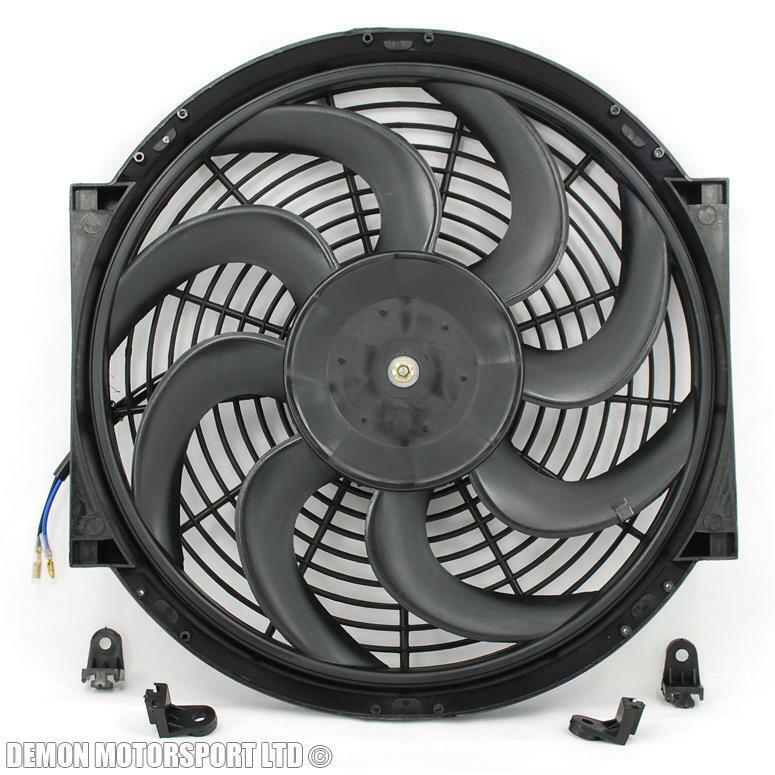12 Volt Cooling Fans : Quot inch fan universal performance push pull electric