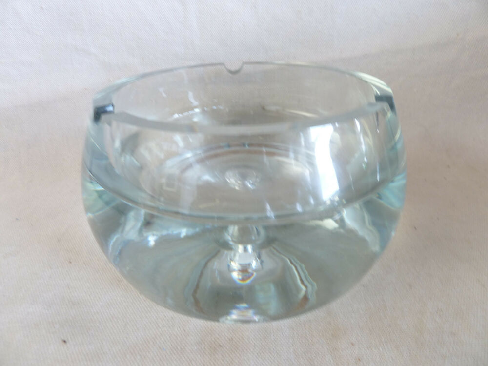 Amazing vtg mid century modern very heavy clear glass for Heavy glass coffee tables
