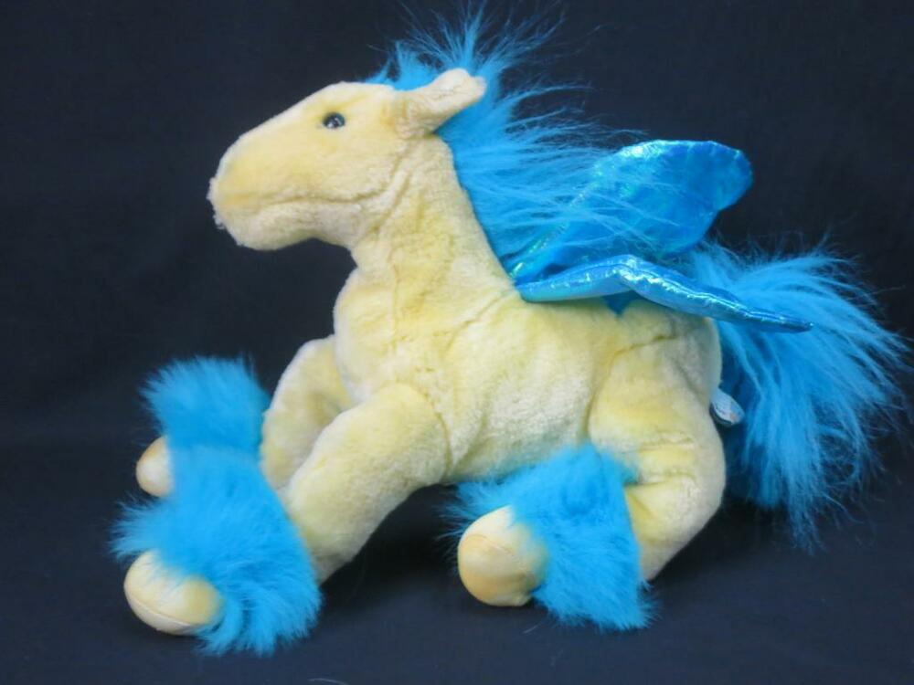 Toys Are Us Stuffed Animals : Toys are us animal alley blue yellow golden pegasus horse