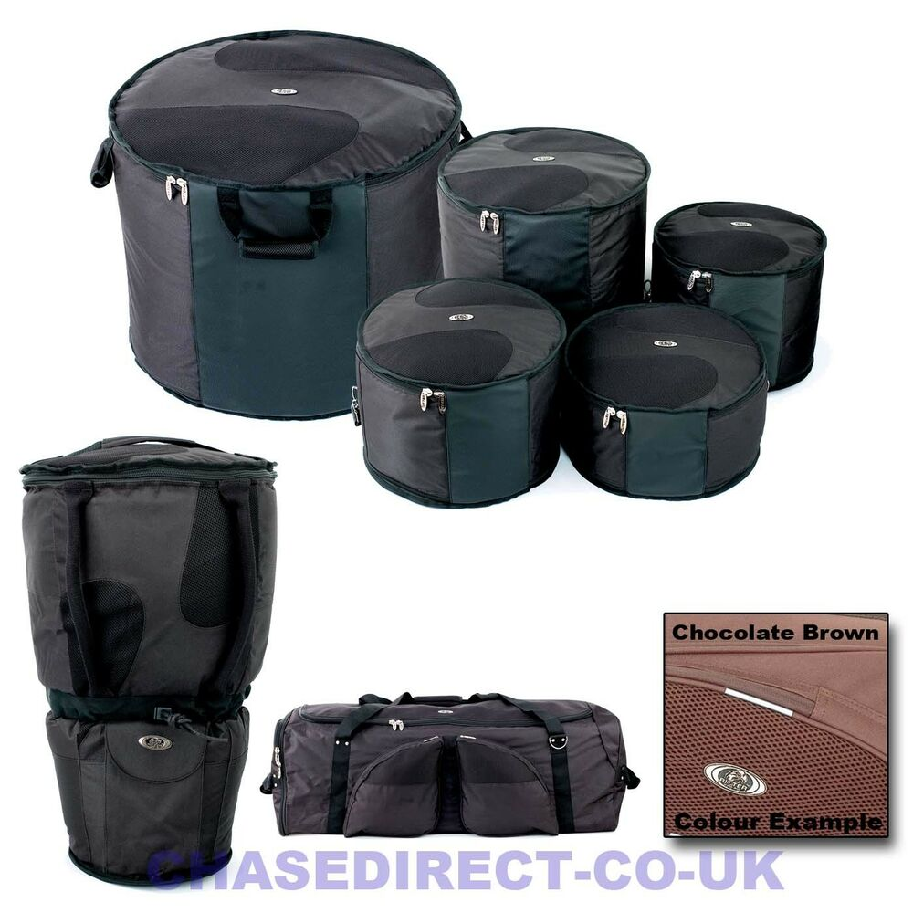 ritter by chase padded drums gig bag drum kit soft case padding snare tom bass ebay. Black Bedroom Furniture Sets. Home Design Ideas