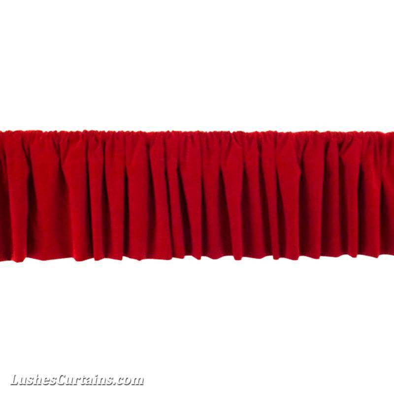Window Treatment Cherry Red Rod Pocket Curtain Topper