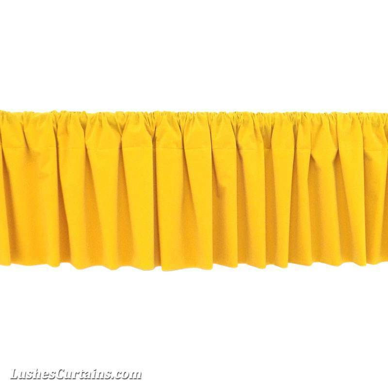 ... Yellow Rod Pocket Curtain Topper Velvet Valance Panel Drapery | eBay