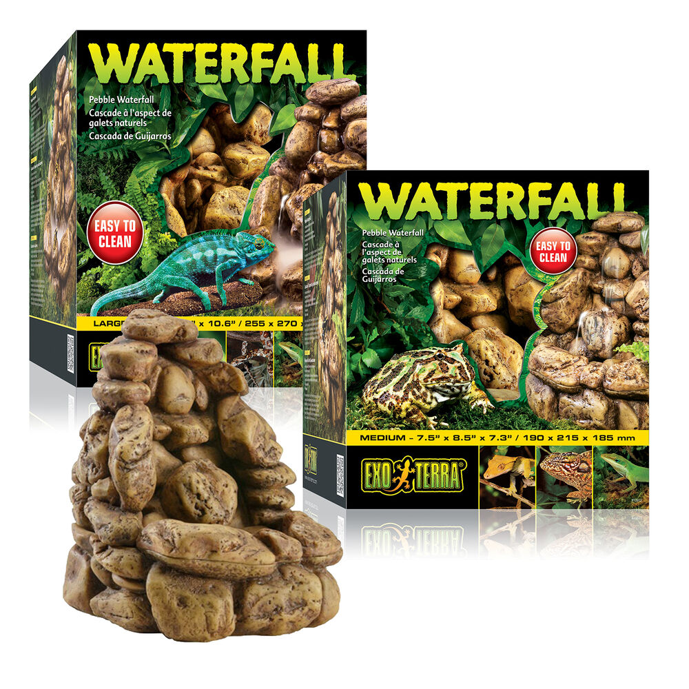 Exo Terra Reptile Vivarium Waterfall Pebble Design
