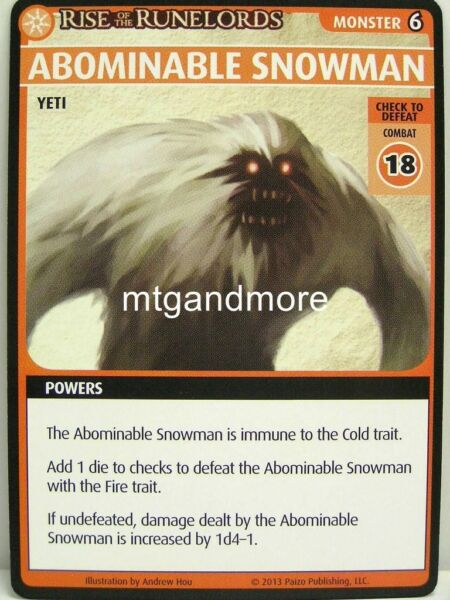 Pathfinder Adventure Card Game - 1x Abominable Snowman - Spires of Xin Shalast
