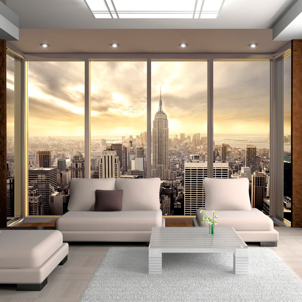 vlies fototapete tapeten xxl wandbilder tapete new york 10110904 34 ebay. Black Bedroom Furniture Sets. Home Design Ideas