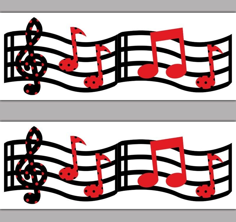 Musical Wallpaper Borders: Music Musical Notes Wallpaper Border Wall Decal Kids Room