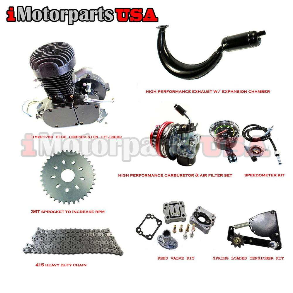 80cc 2 Stroke Cycle Gas Engine Motor Kit For Motorized