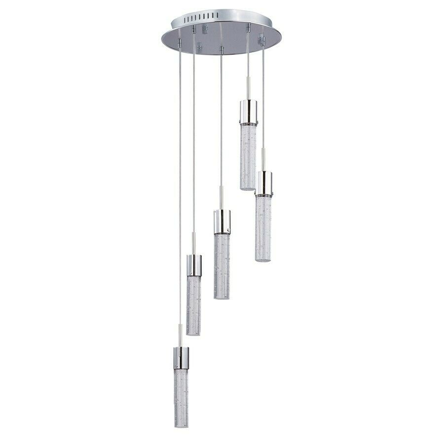 ET2 Lighting Fizz IV 5 Light LED Pendant Polished Chrome E22775 91PC EBay