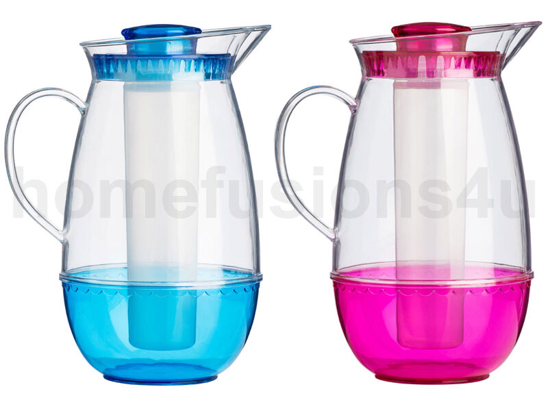 2.5L PLASTIC JUG WITH ICE CORE CHAMBER INFUSER & LID BEER ...
