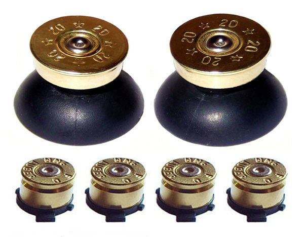 replacement gold action bullet buttons thumbsticks for ps4 controller shell ebay. Black Bedroom Furniture Sets. Home Design Ideas