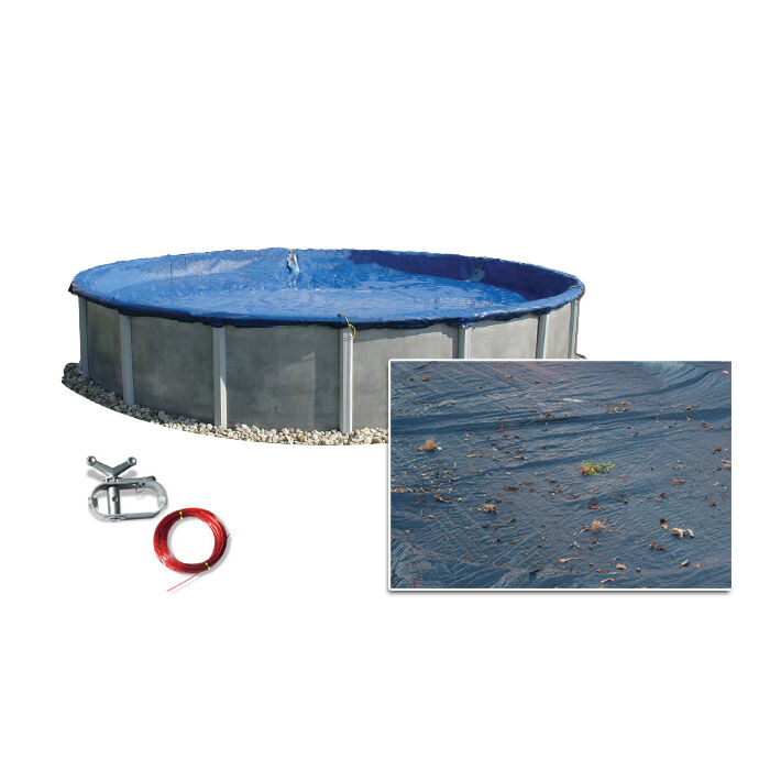 15 39 ft round above ground swimming pool polar winter cover 10 year warranty ebay