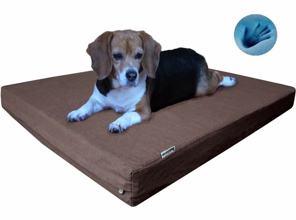 gel memory foam pet bed durable orthopedic waterproof for. Black Bedroom Furniture Sets. Home Design Ideas