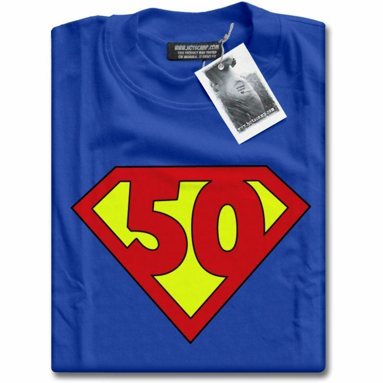 NEW Super 50 Years Old 50th Birthday Party Top Superhero