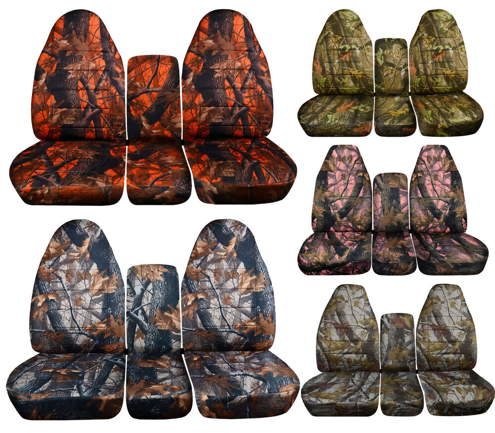 seat covers dodge ram gmc camo sierra 40 2002 chevy front 1999 1994 camouflage rear bench silverado truck integrated belt