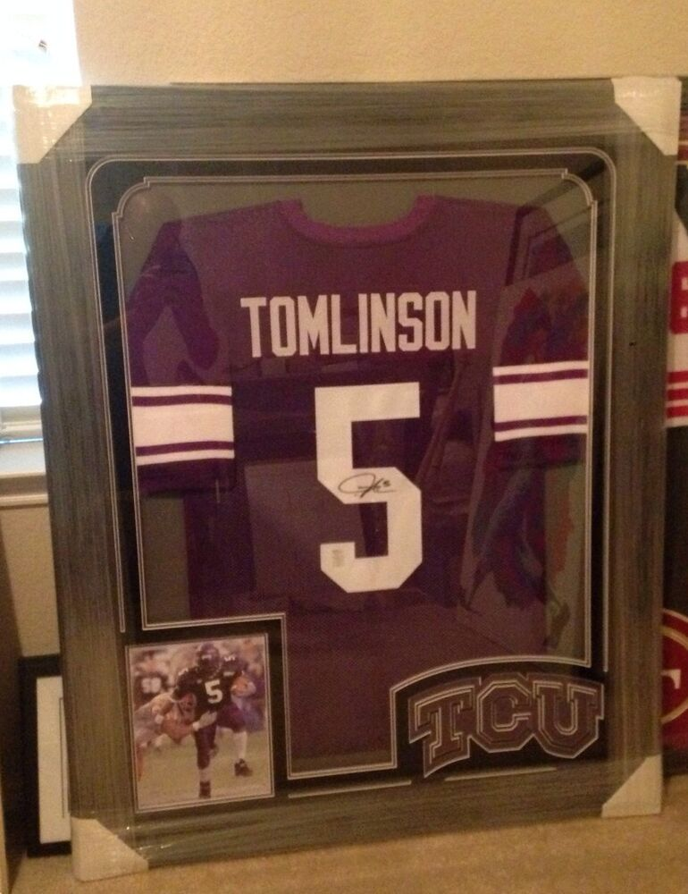Ladainian Tomlinson Signed Amp Framed Tcu Jersey Frogs