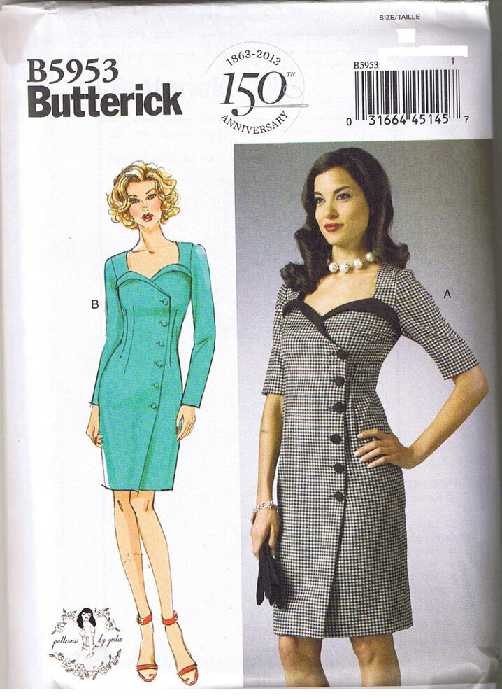 Easy Vintage 50s Retro Wrap Dress Sewing Patterns by ...