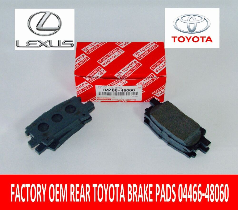 Genuine Oem Rear Suspension Mounting Parts For 1990 Toyota: NEW FACTORY LEXUS REAR GENUINE TOYOTA BRAKE PAD SET 04466