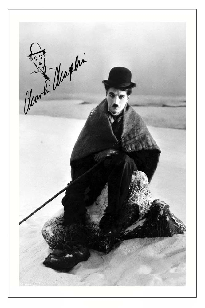 CHARLIE CHAPLIN - THE GOLD RUSH SIGNED PHOTO PRINT POSTER ...