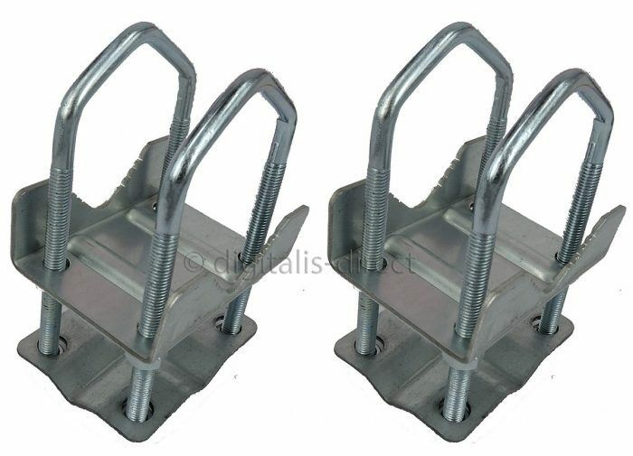 2 X Shelley Clamp 2 Quot X 2 Quot 8 Nut Aerial Pole Universal Mast