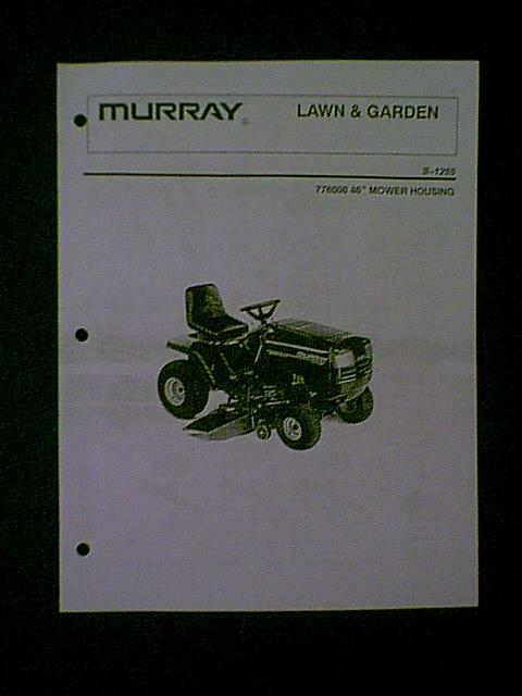 Murray Select Riding Lawn Mower Parts : Murray riding mower quot deck s parts manual ebay