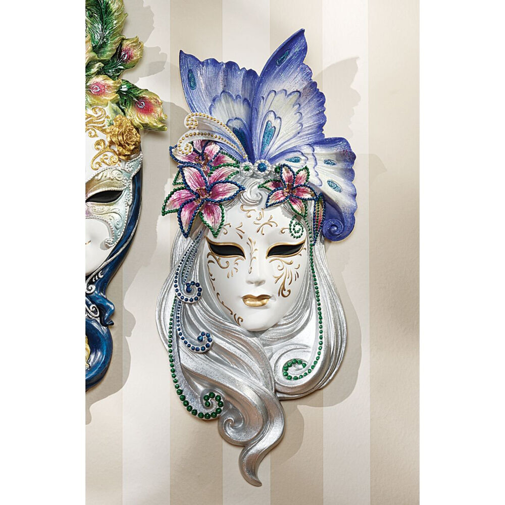 Wall Decoration With Masks : Venetian italian decorative wall sculpture art butterfly
