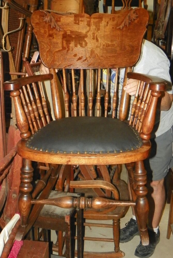Quartersawn Oak Carved Rocking Chair Rocker R149 Ebay