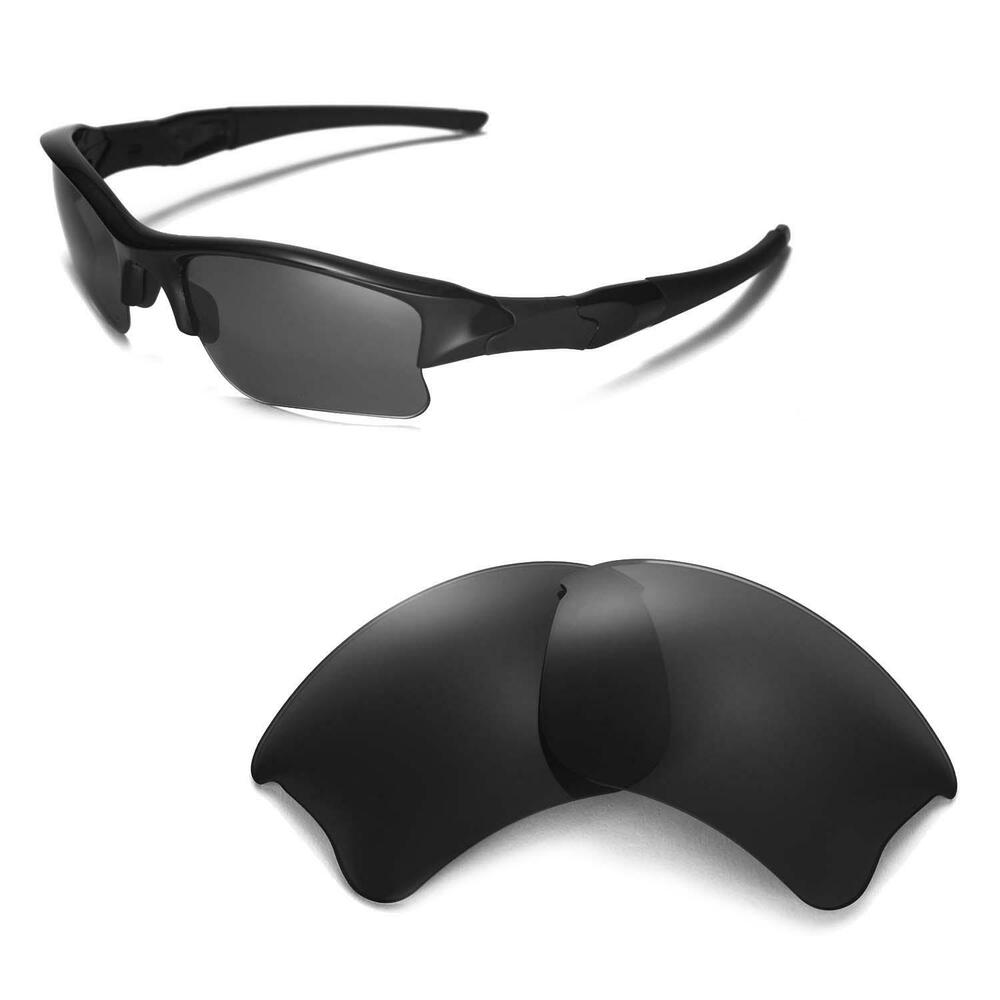 New Wl Polarized Black Replacement Lenses For Oakley Flak