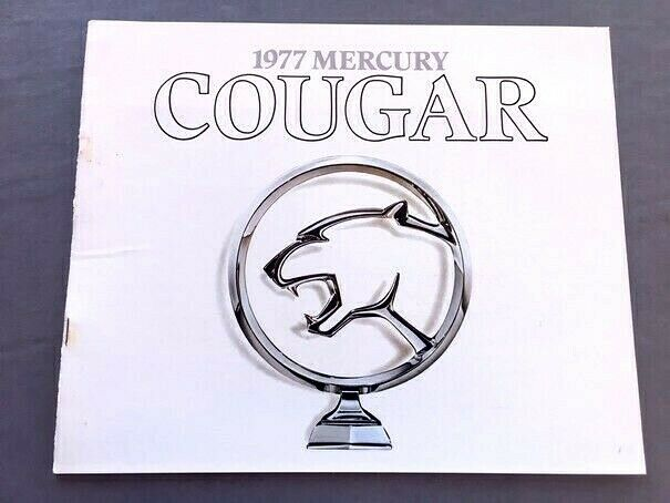 1977 Mercury Cougar And Xr 7 16 Page Original Car Sales Brochure