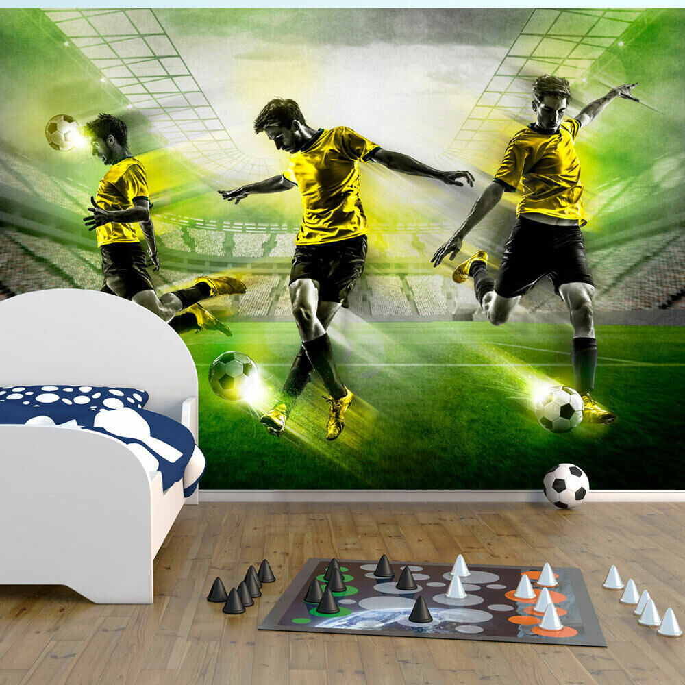 vlies fototapete tapeten xxl wandbilder tapete fussball 10110902 8 ebay. Black Bedroom Furniture Sets. Home Design Ideas