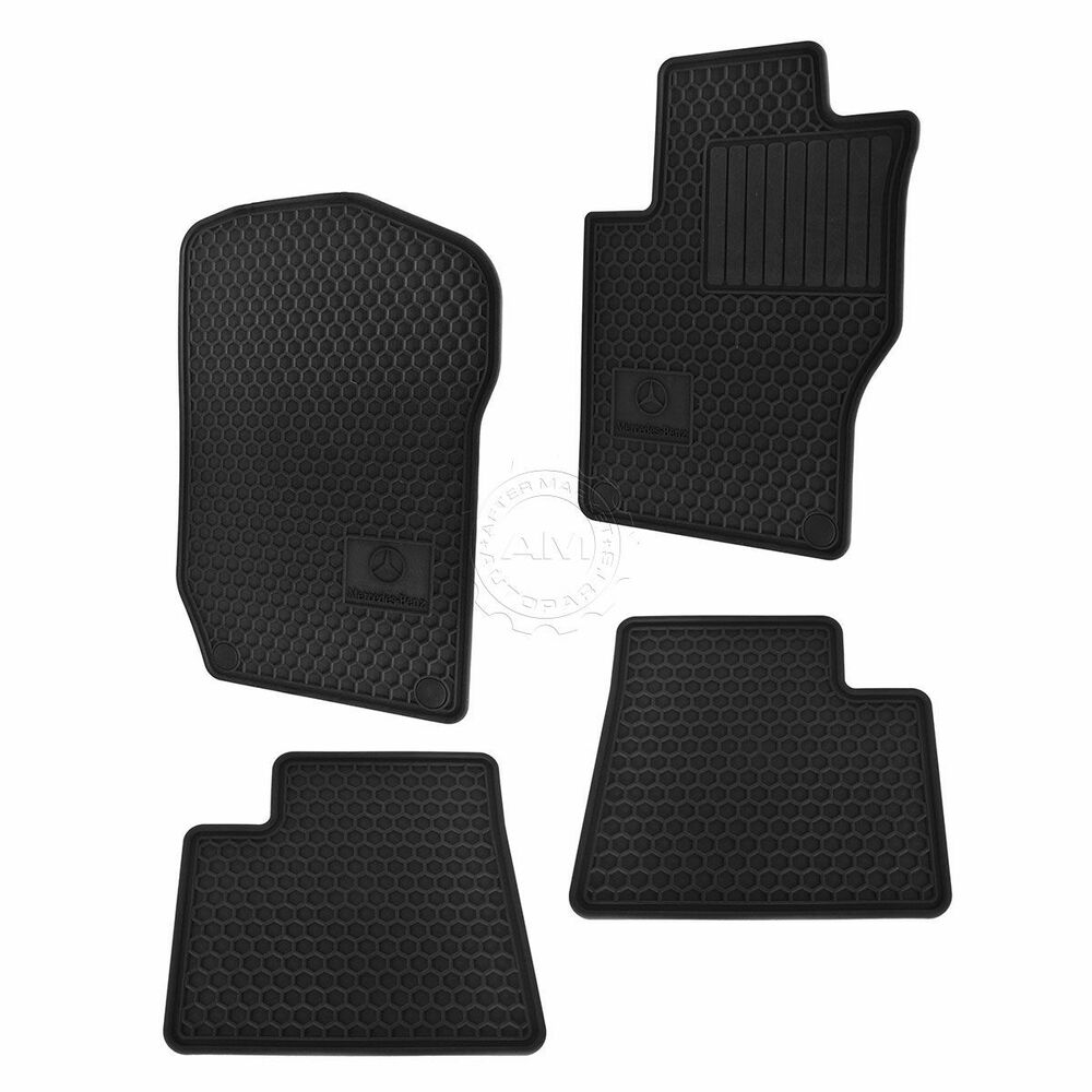 Mercedes Benz All Season Black Rubber Floor Mat Set Of 4