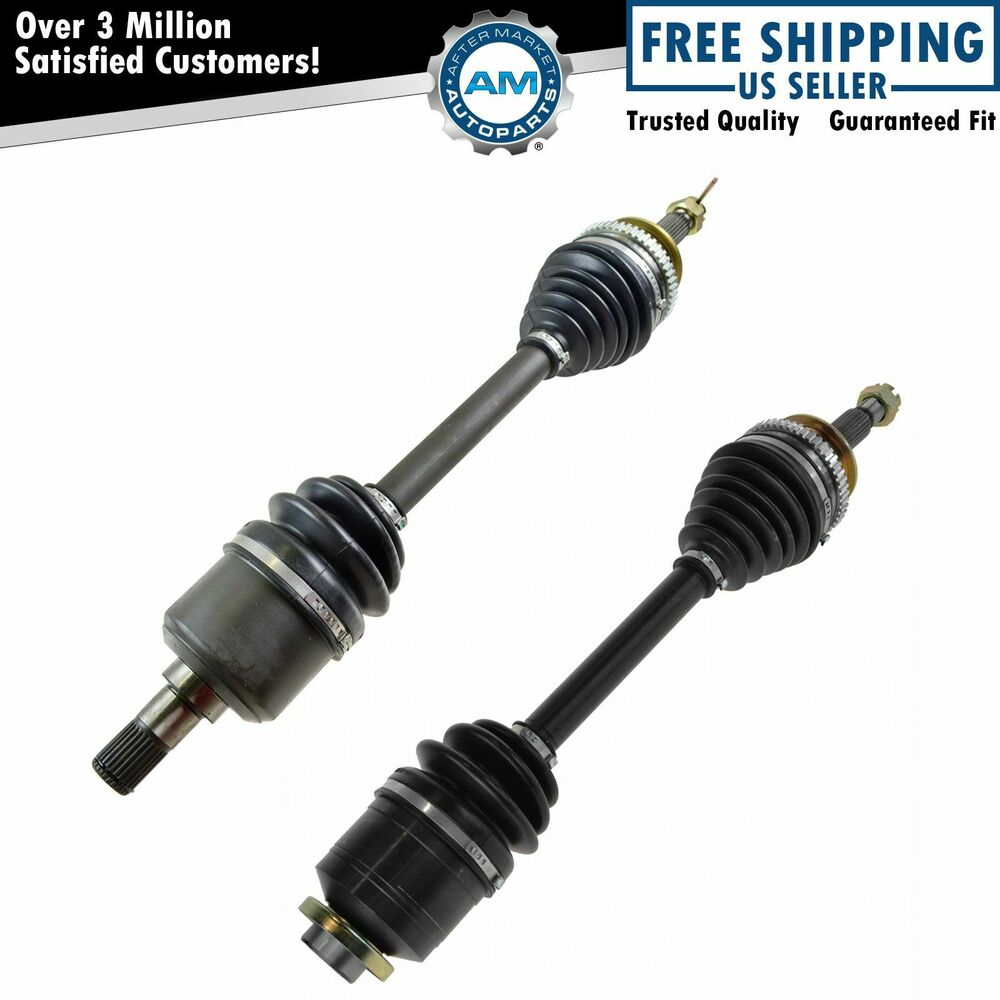 cv axle shaft front pair set of 2 for 01