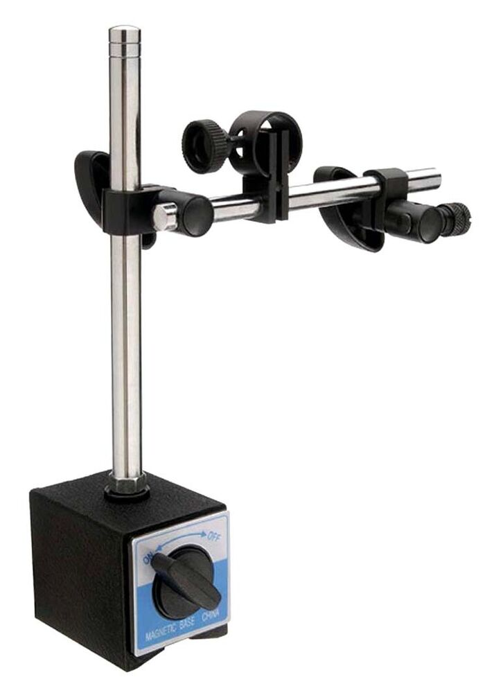 Hydraulic Arm With Magnetic Base Indicator : Heavy duty dial test indicator mag base fine adjustable